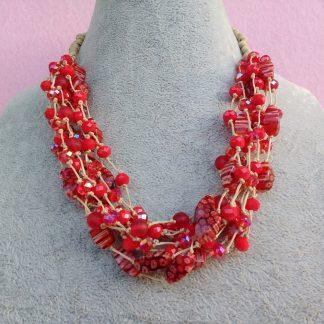 Collana di Perle Rosse, Bigiotteria Artigianale