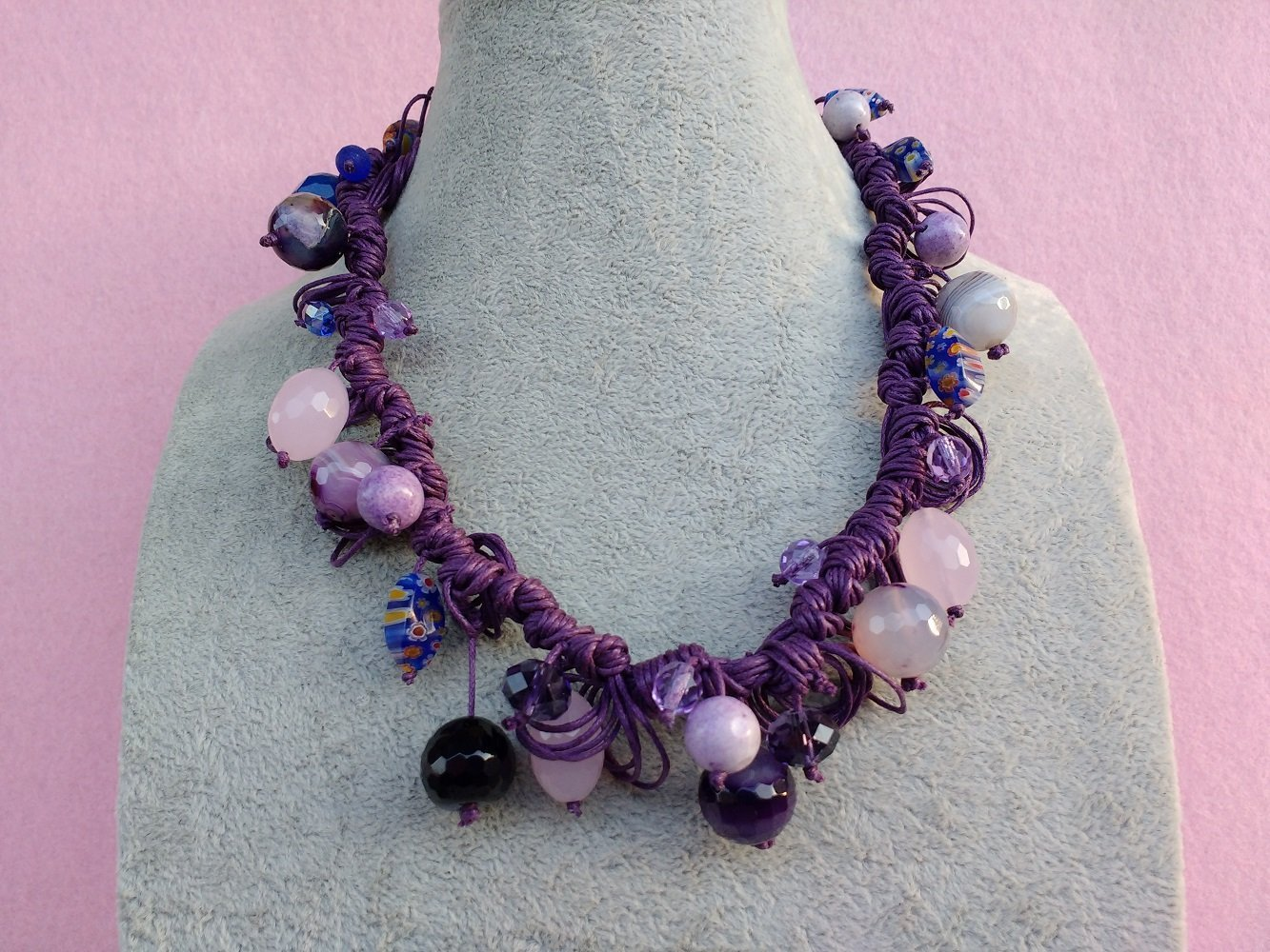 Collana di Perle Viola fb858365bad