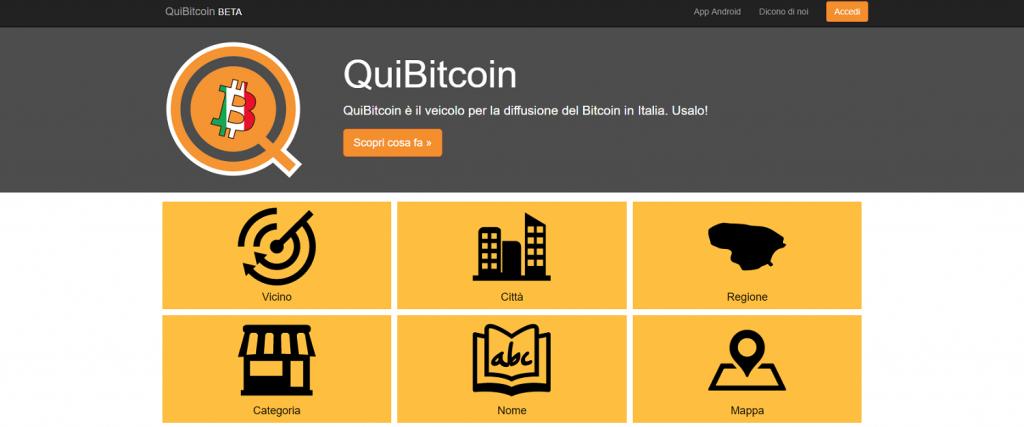 QuiBitcoin per trovare Negozi Online che Accettano Bitcoin