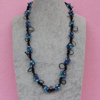 Collana di Cristalli Azzurri e Blu