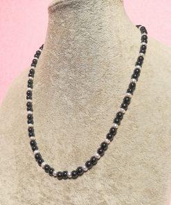 Collana di Ematite e Perle di Fiume