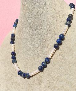 Collana di Lapislazzuli e Perle di Fiume