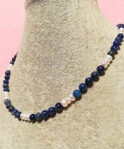 Collana di Lapislazzuli e Perle di Fiume da 44 cm